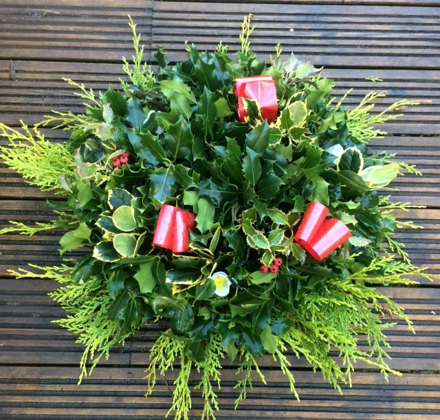Christmas Holly Wreaths