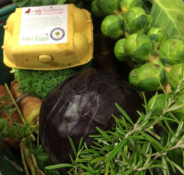 Veggie box (medium with eggs)